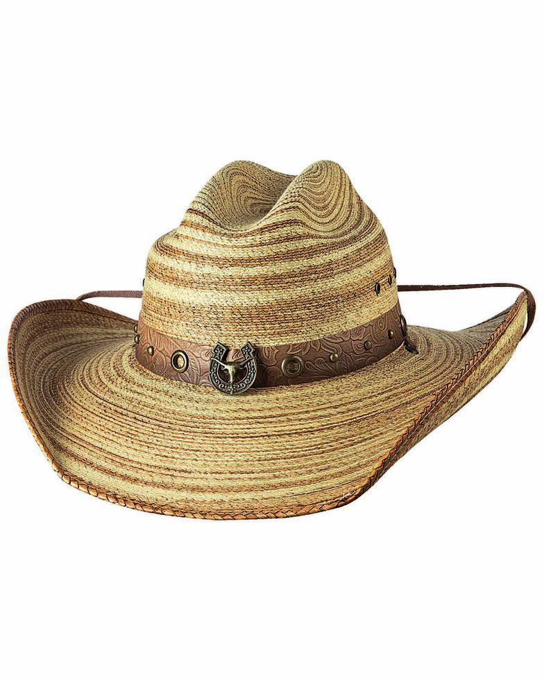 Bullhide Women's Ride or Die Straw Hat, Natural, hi-res