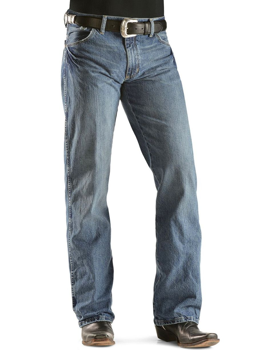Wrangler Retro Men's Slim Fit Jeans, Worn Denim, hi-res