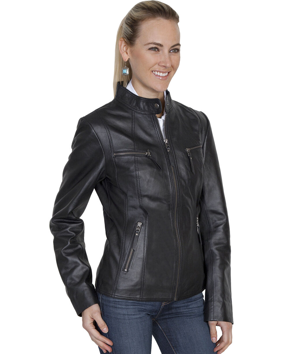 Scully Leatherwear Lamb Jacket, Black, hi-res