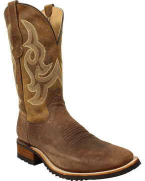 Corral Men's Tan Leather Boots - Wide Square Toe , Tan, hi-res