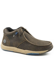 Roper Men's Clearcut Brown Shoes - Moc Toe, Brown, hi-res
