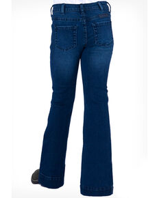 Cowgirl Tuff Girls' Medium Wash Flex Trousers , Blue, hi-res