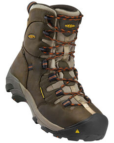 Keen Men's Detroit Waterproof Work Boots - Steel Toe, Brown, hi-res