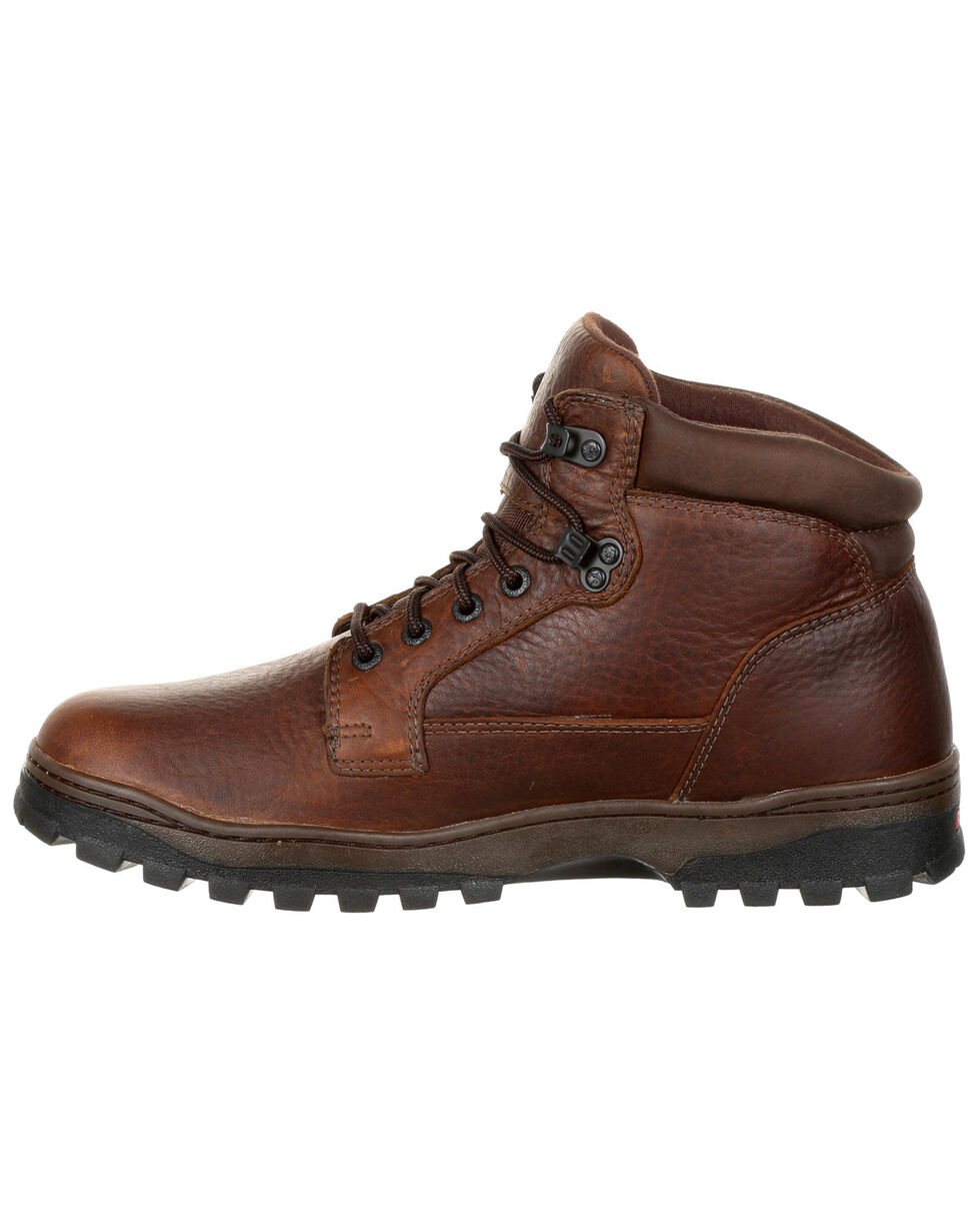 Rocky Men's Outback Waterproof Outdoor Boots - Round Toe, Brown, hi-res