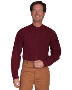 Rangewear by Scully Paisley Inset Bib Shirt - Big & Tall, Burgundy, hi-res