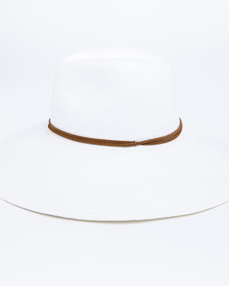 Nikki Beach Women's Wanderer Panama Rancher Straw Hat , White, hi-res