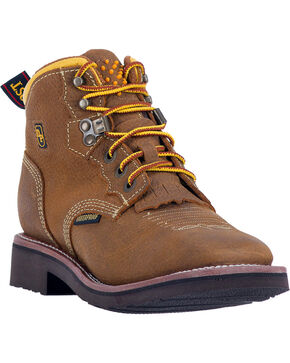 Dan Post Women's Mesa Waterproof Work Boots, Tan, hi-res