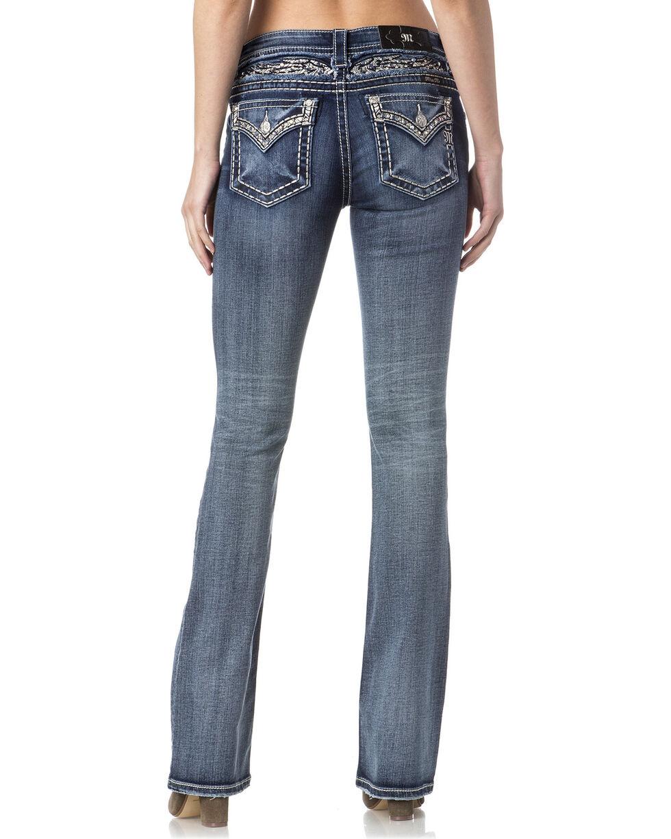 Miss Me Women's Indigo Faux Flap Pocket Jeans - Boot Cut , , hi-res