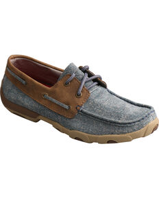 Twisted X Women's Denim Driving Moc Shoes, Multi, hi-res