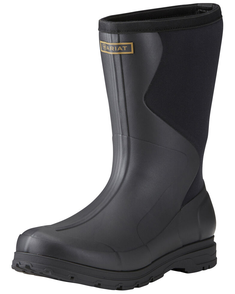 Ariat Men's Springfield Rubber Work Boots - Soft Toe, Black, hi-res