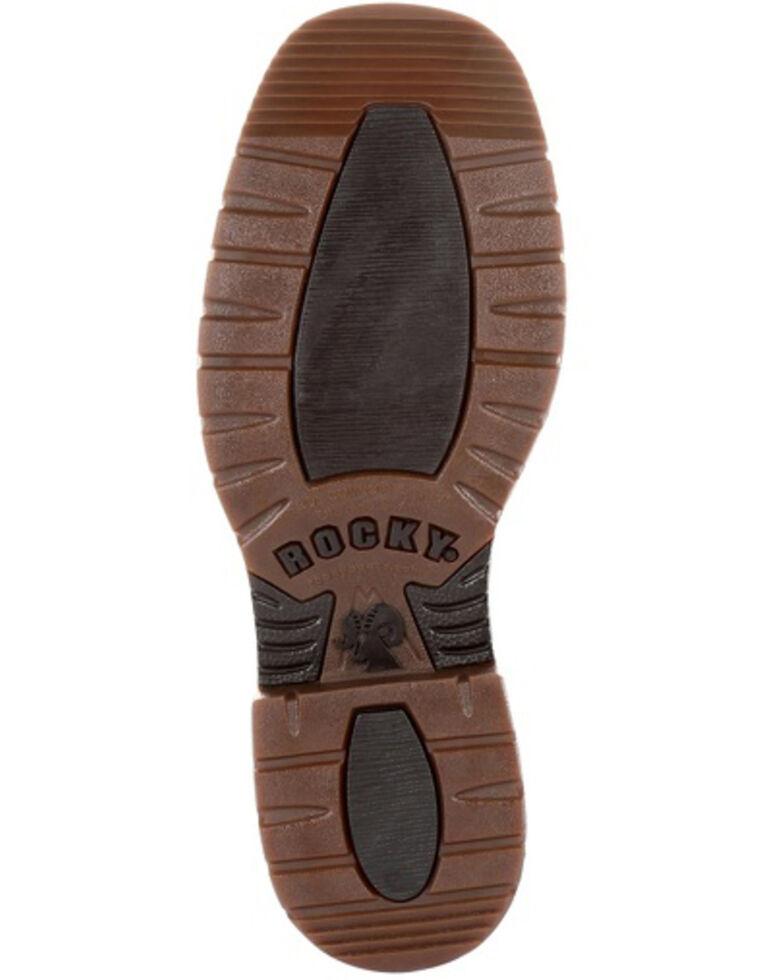 Rocky Men's Original Ride FLX Waterproof Western Boots - Square Toe, Brown, hi-res