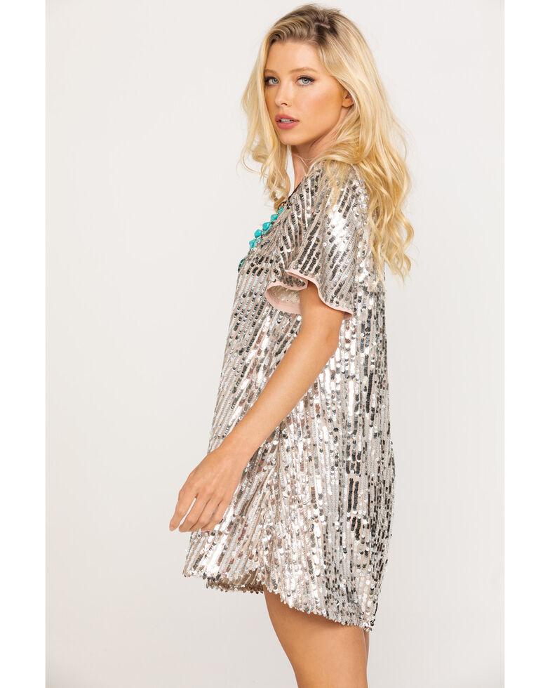 Show Me Your Mumu Women's Platinum Party Sequin Emi Tunic Dress, , hi-res