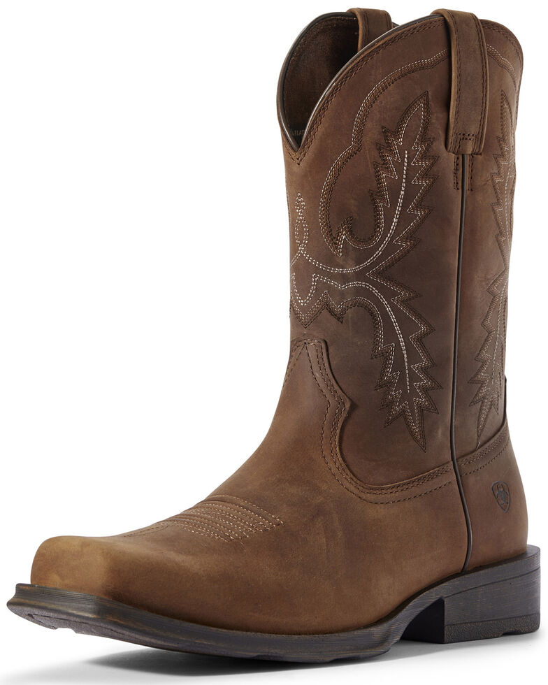Ariat Men's Country Rambler Western Boots - Square Toe, Brown, hi-res