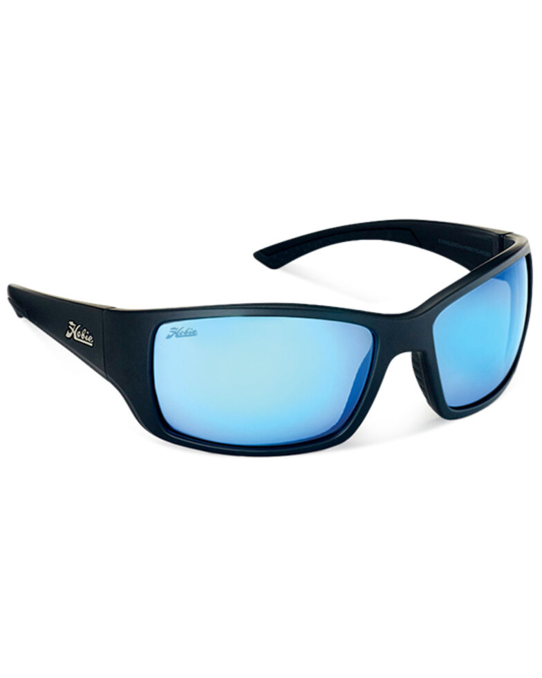 Hobie Men's Everglades Satin Black & Colbalt Frame Polarized Sunglasses  , Black, hi-res