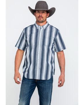 Gibson Men's Cole Navy Plaid Short Sleeve Western Shirt , Navy, hi-res