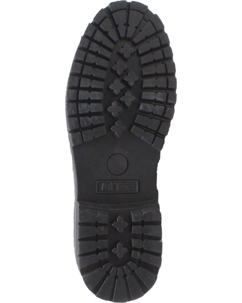 "Ad Tec Men's 6"" Black Leather Slip Resistant Work Boots - Steel Toe, Black, hi-res"