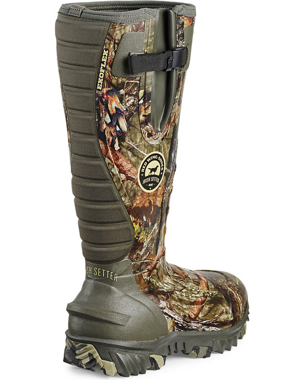Irish Setter by Red Wing Shoes Men's Mossy Oak Rutmaster Insulated Rubber Boots - Round Toe, Camouflage, hi-res