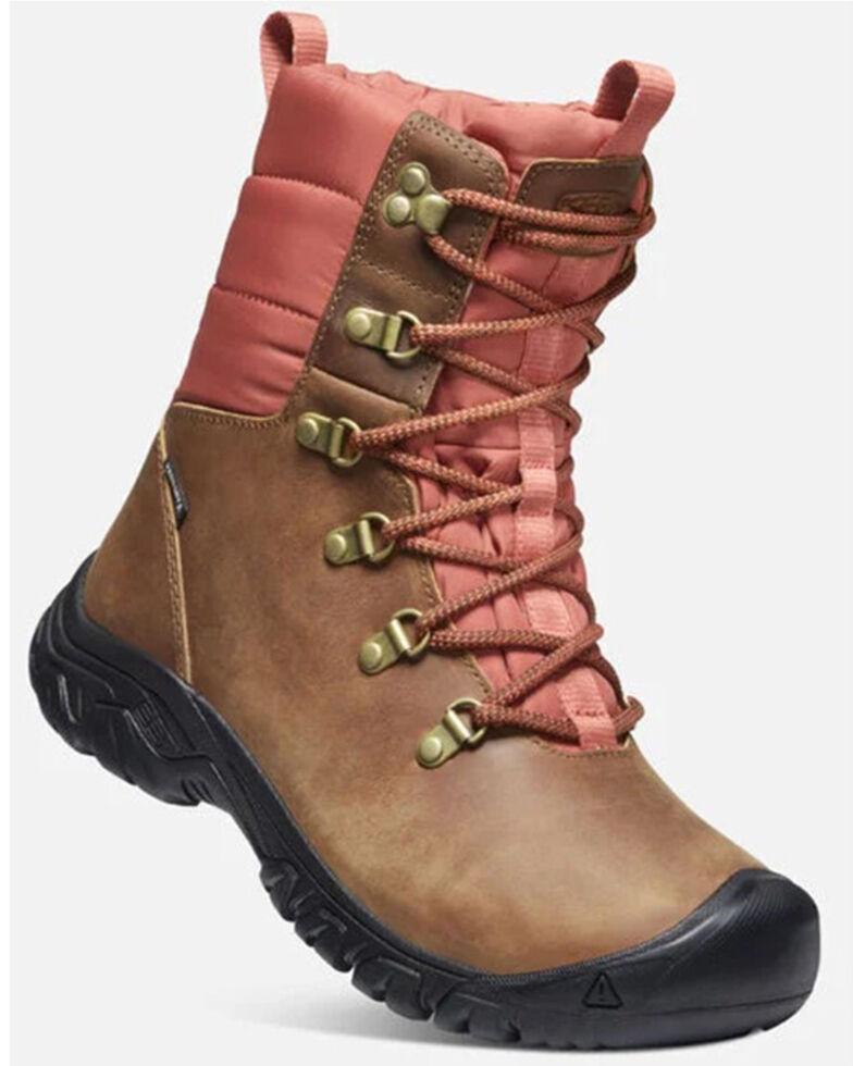 Keen Women's Greta Waterproof Hiking Boots - Soft Toe, Lt Brown, hi-res