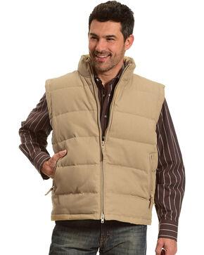 Resistol Men's Tan Cowboy Canvas Vest , Tan, hi-res