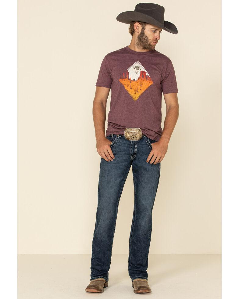 Rock 47 By Wrangler Men's Chromatic Stretch Slim Bootcut Jeans , Blue, hi-res