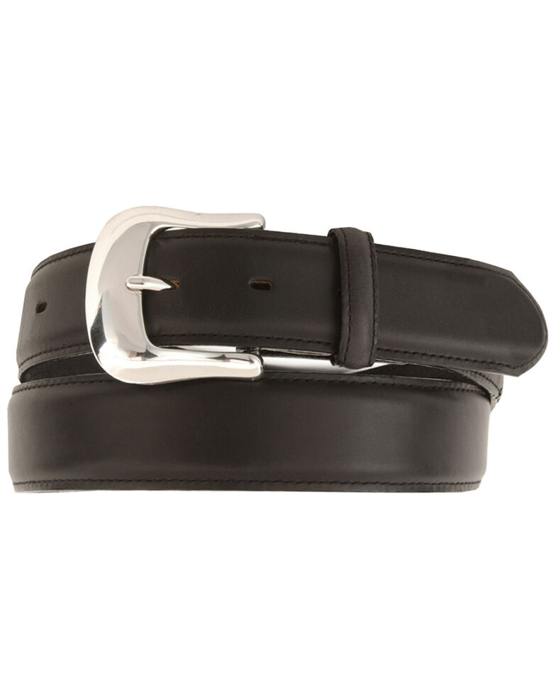 Tony Lama Men's Classic Genuine Leather Belt, Black, hi-res