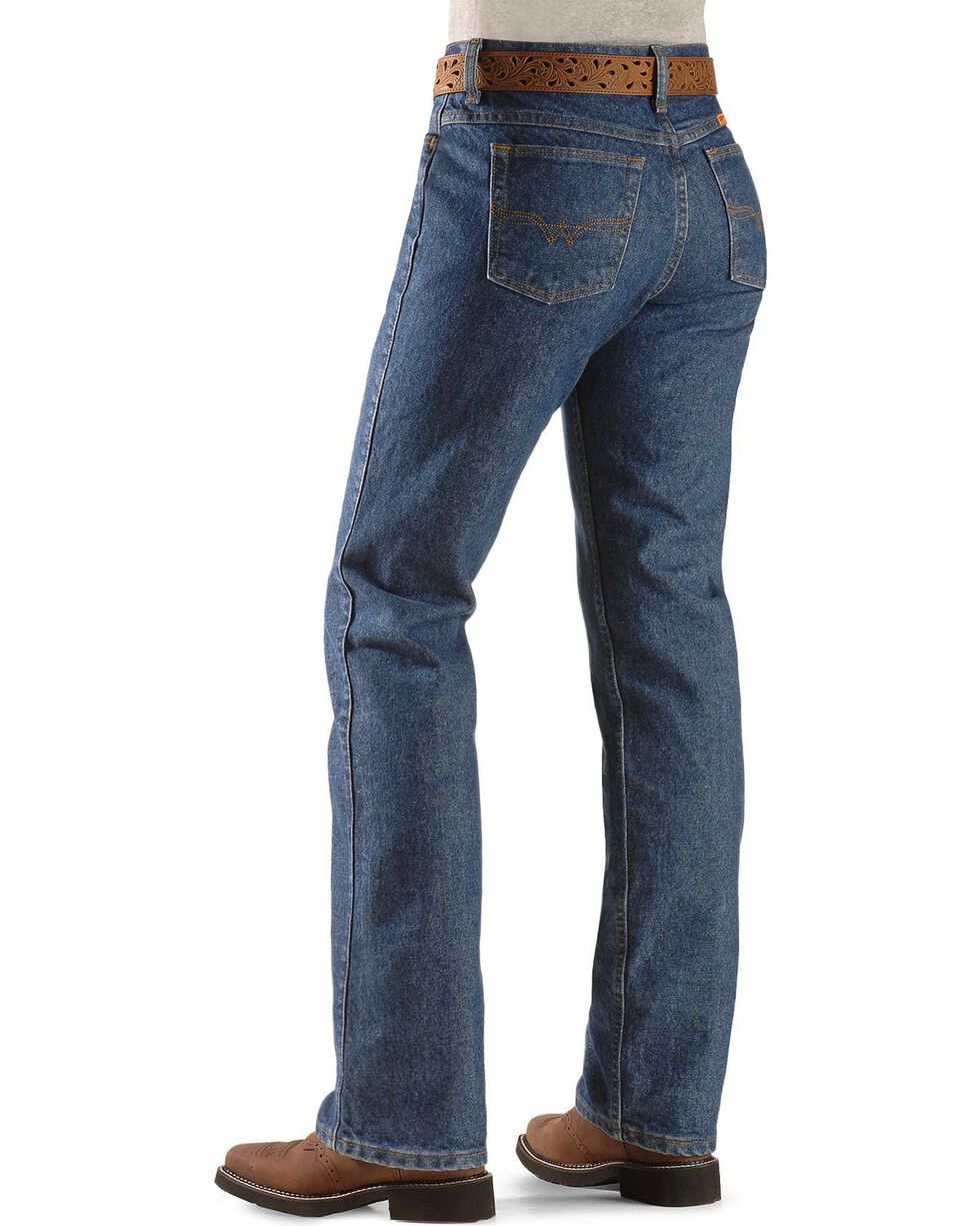 Wrangler Women's Flame Resistant Boot Cut Western Jeans, Denim, hi-res