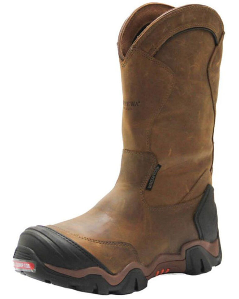 Chippewa Men's Cross Terrain Waterproof Western Work Boots - Nano Composite Toe, Brown, hi-res