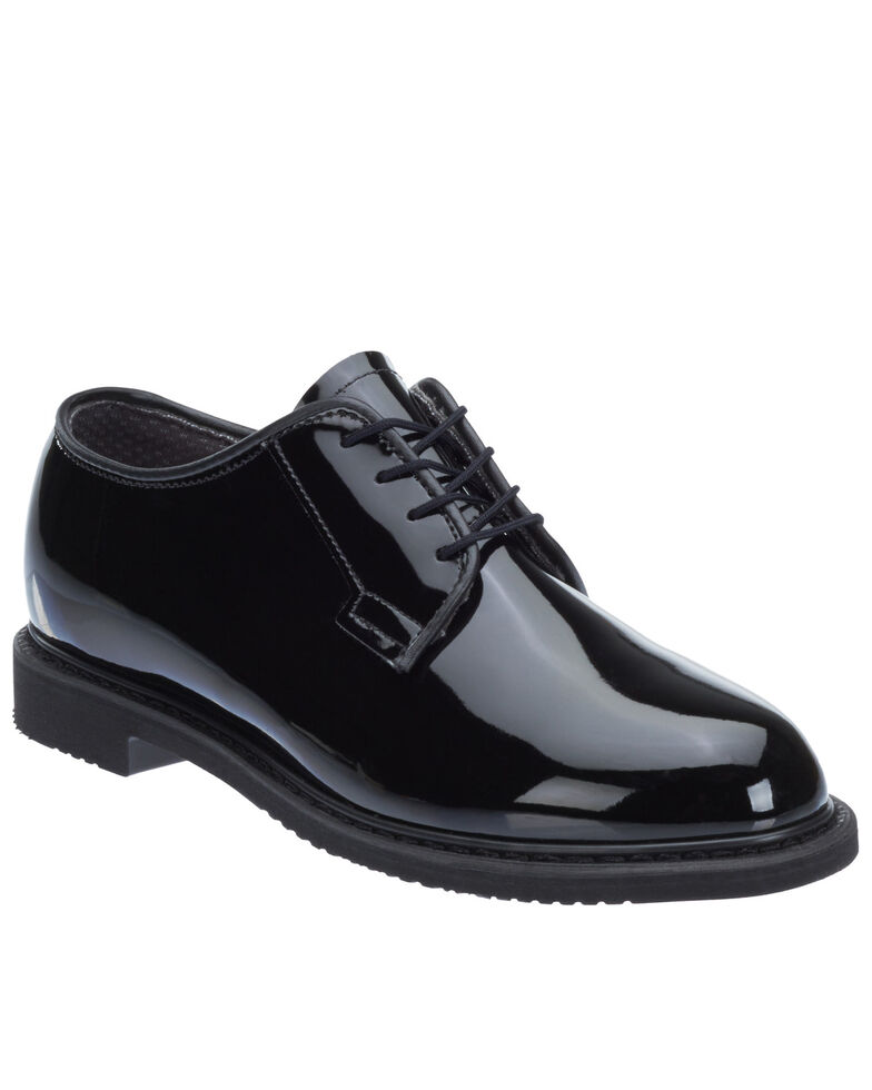 Bates Women's Lites Black High Gloss Oxford Shoes - Round Toe, Black, hi-res