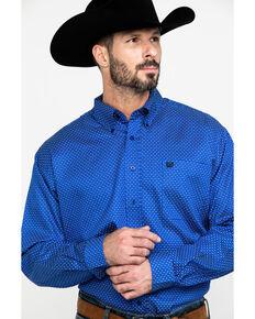 Cinch Men's Royal Blue Geo Print Long Sleeve Western Shirt , Royal Blue, hi-res