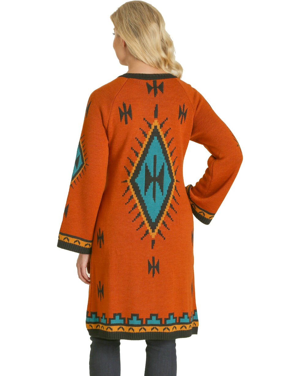 Wrangler Women's Aztec Print Cardigan , Multi, hi-res