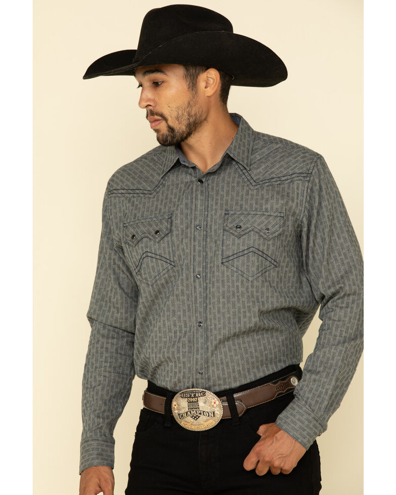 Cody James Men's Gallop All-Over Floral Print Long Sleeve Western Shirt , Grey, hi-res