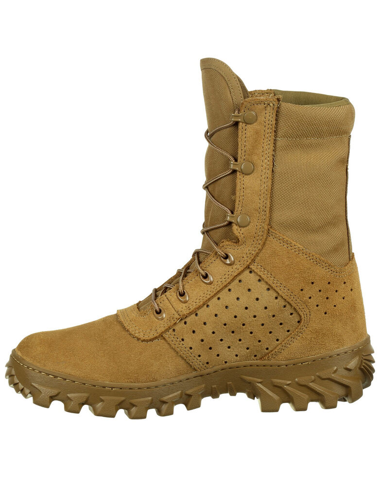 Rocky Men's Puncture-Resisting Military Jungle Boots - Round Toe, Taupe, hi-res