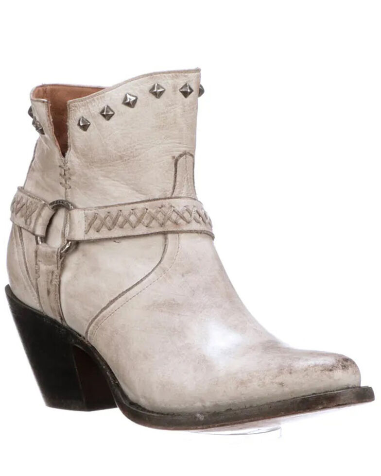 Lucchese Women's Ani Fashion Booties - Round Toe, White, hi-res