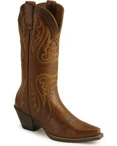 Ariat Women's Heritage Vintage Western Boots, Caramel, hi-res