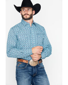 a27f8fd6fbd Roper Men s Paisley Print Snap Long Sleeve Shirt