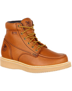 Georgia Boot Men's Wedge Work Boots - Moc Toe, Gold, hi-res
