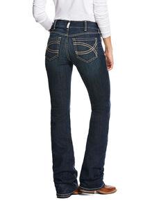 Ariat Women's R.E.A.L. Shayla Mid Rise Boot Cut Jeans - Plus, Blue, hi-res