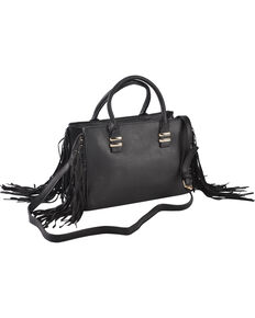 Wear N.E. Wear Women's Fringe Handbag, Black, hi-res
