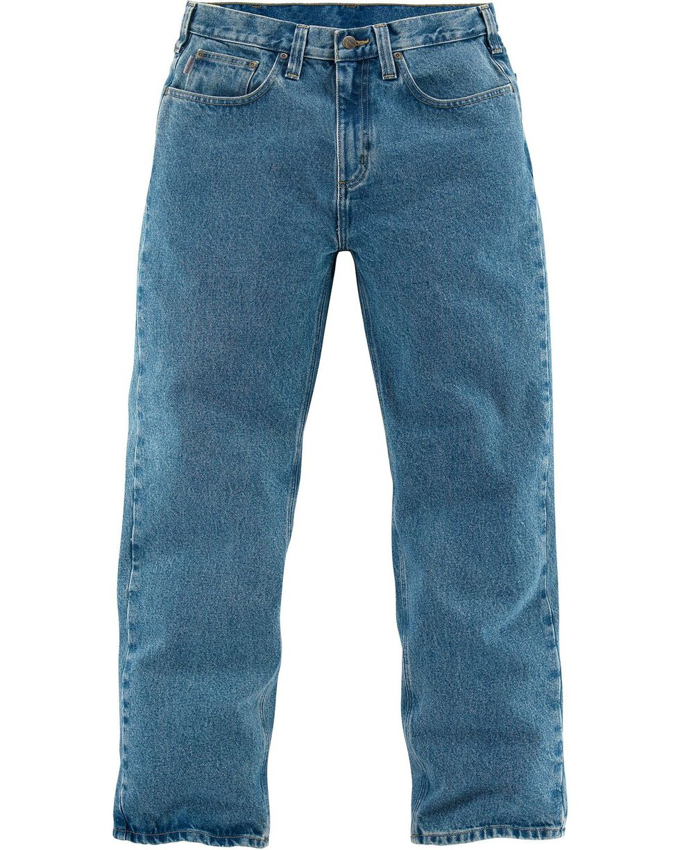 Carhartt Relaxed Fit Straight Leg Five Pocket Work Jeans, Lt Denim, hi-res