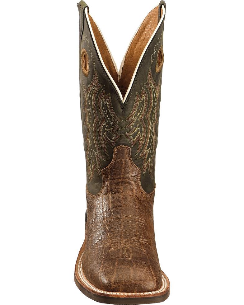 Tony Lama Men's Americana Elephant Grain Print Cowboy Boots - Square Toe , Tan, hi-res