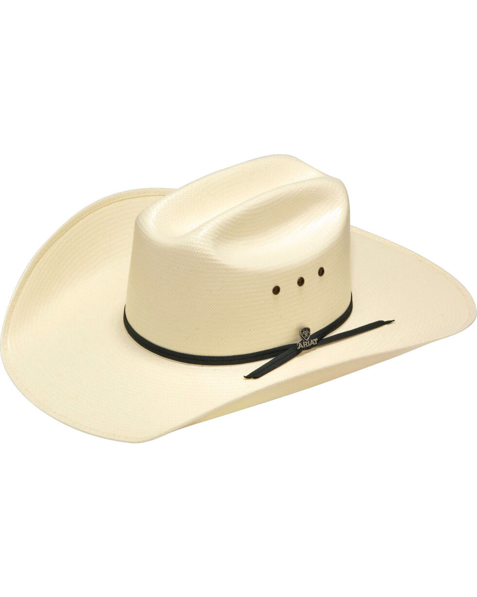 Ariat 20X Straw Cowboy Hat, Ivory, hi-res