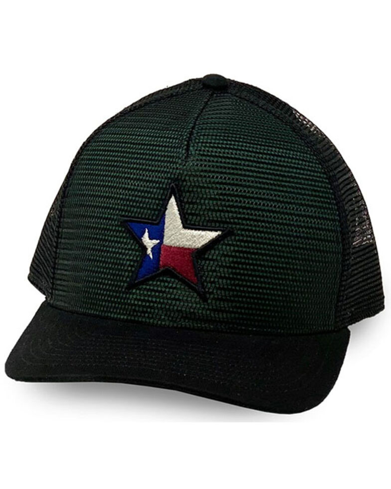 Oil Field Hats Men's Loden Texas Star Patch Mesh Ball Cap , Olive, hi-res