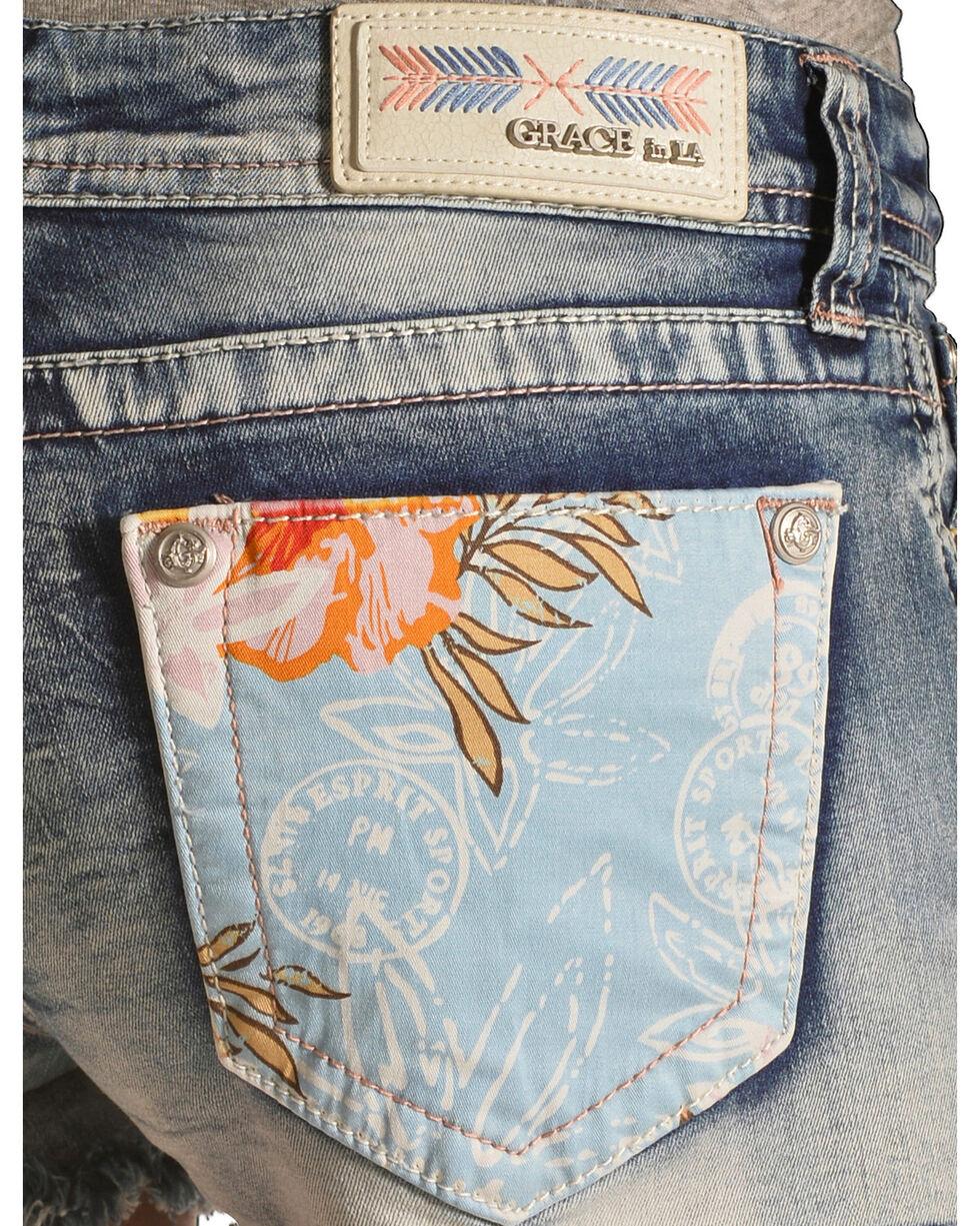 Grace in LA Women's Beach Comber Cutoff Shorts, Denim, hi-res