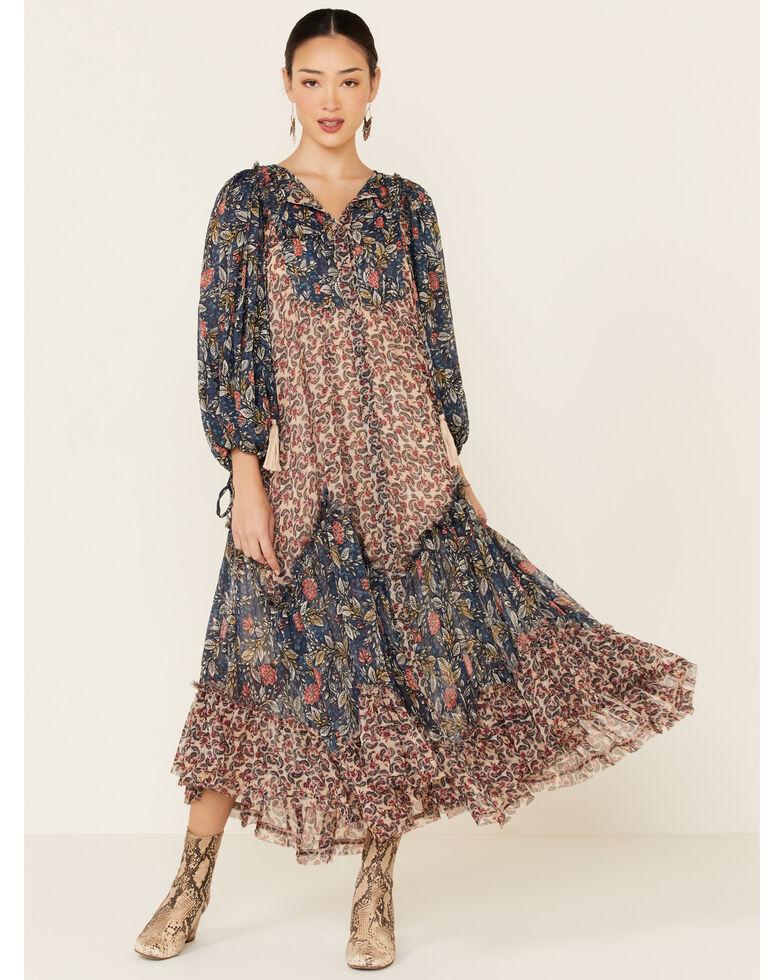 Free People Women's Estelle Chiffon Maxi Dress, Multi, hi-res
