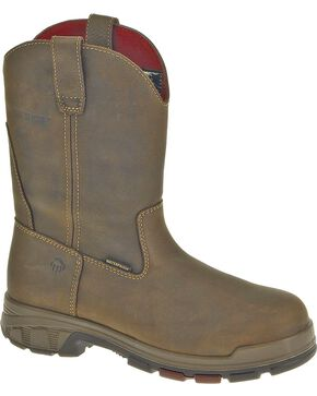 Wolverine Men's Cabor Wellington Comp Toe WPF Work Boots, Coffee, hi-res