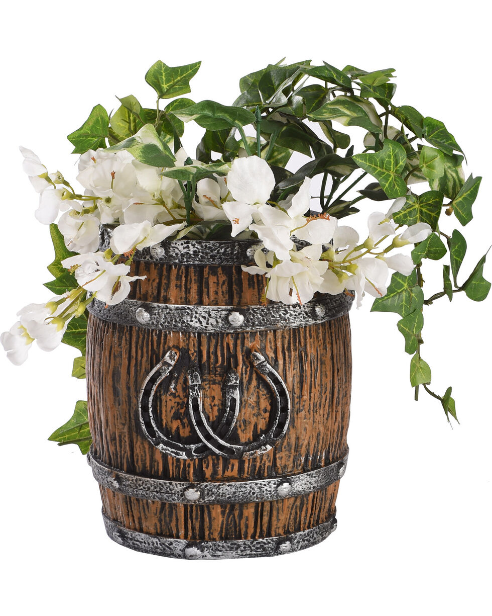 BB Ranch Double Horseshoe Planter, Brown, hi-res