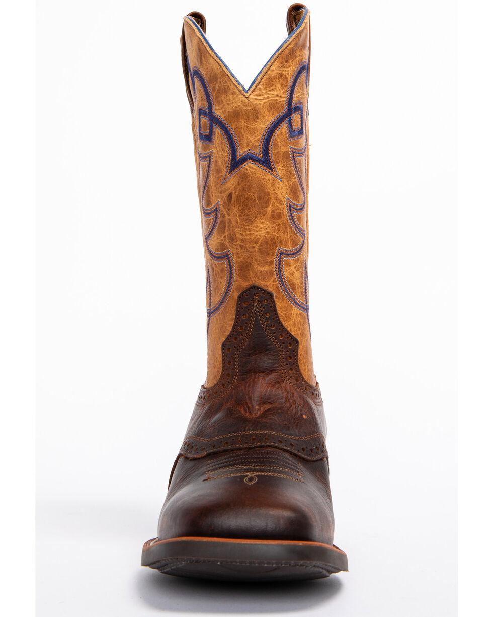 Cody James Men's Putnam Western Boots - Wide Square Toe, Brown, hi-res