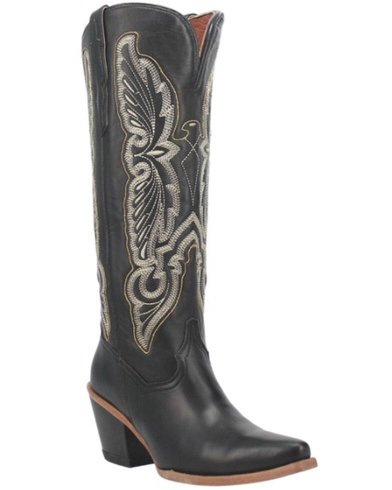 Dan Post Women's Tiany Western Boots - Snip Toe, Black, hi-res