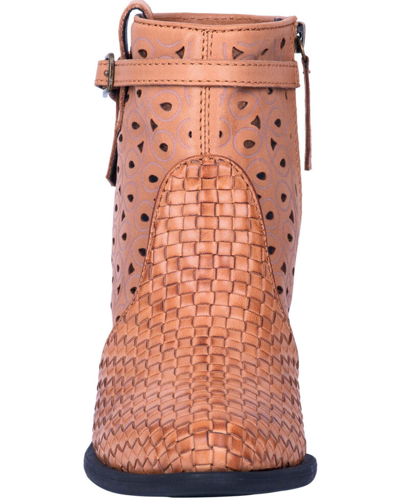 Dingo Women's Tan Be Famous Fashion Booties - Round Toe, Tan, hi-res