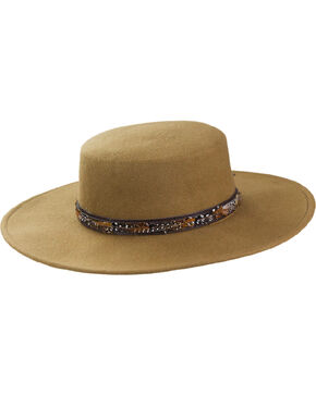 Peter Grimm Unisex Baron Tan Wool Felt Hat, Tan, hi-res